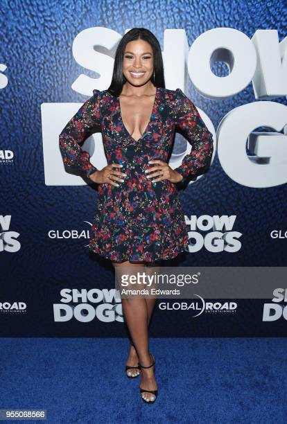 Singer Jordin Sparks arrives at the premiere of Global Road Entertainment's 'Show Dogs' at the TCL Chinese 6 Theatres on May 5 2018 in Hollywood...