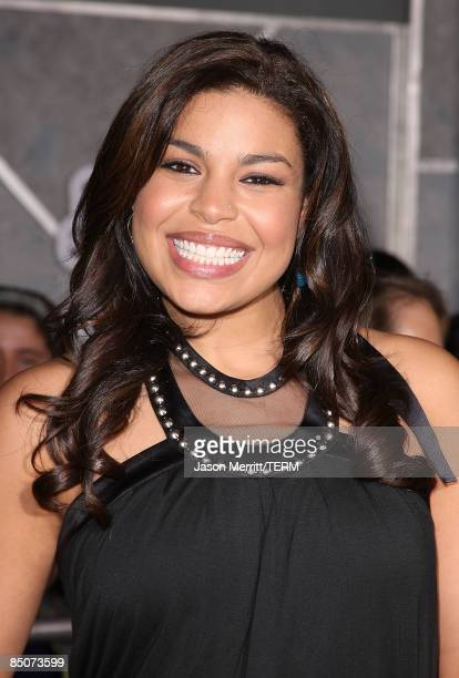 Singer Jordin Sparks arrives at the Walt Disney Pictures' Jonas Brothers The 3D Concert Experience at the El Capitan Theatre in Hollywood California...