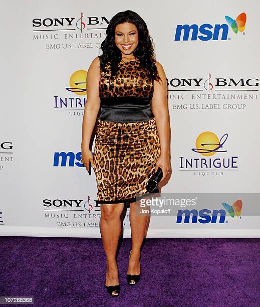 Singer Jordin Sparks arrives to the Clive Davis PreGrammy Party at the Beverly Hilton Hotel on February 9 2008 in Beverly Hills California