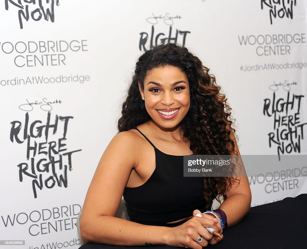 Singer Jordin Sparks attends a meet and greet for the release of her new album 'Right Here, Right Now' at Woodbridge Center on August 21, 2015 in Woodbridge City.