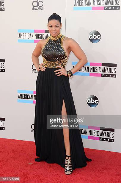 Singer Jordin Sparks attends the 2013 American Music Awards at Nokia Theatre LA Live on November 24 2013 in Los Angeles California