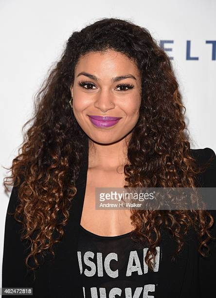 Singer Jordin Sparks attends the Friars Club Roast of Terry Bradshaw during the ESPN Super Bowl Roast at the Arizona Biltmore on January 29 2015 in...