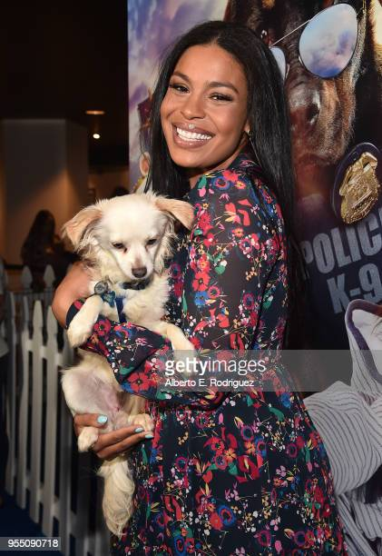 Singer Jordin Sparks attends the premiere of Global Road Entertainment's 'Show Dogs' at The TCL Chinese 6 Theatres on May 5 2018 in Hollywood...