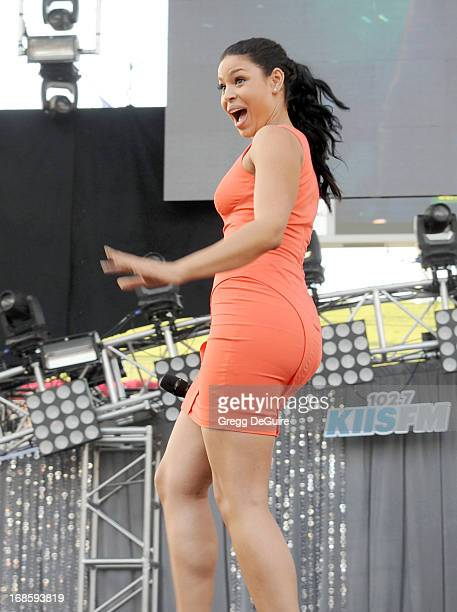 Singer Jordin Sparks performs at 1027 KIIS FM's Wango Tango at The Home Depot Center on May 11 2013 in Carson California