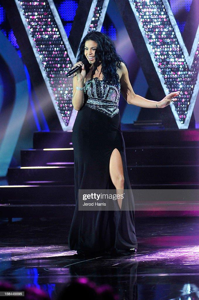 Singer Jordin Sparks performs onstage at 'VH1 Divas' 2012 held at The Shrine Auditorium on December 16, 2012 in Los Angeles, California.