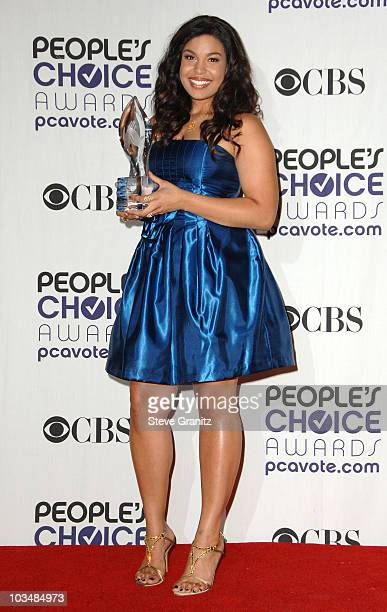 Singer Jordin Sparks poses in the press room at the 35th Annual People's Choice Awards held at the Shrine Auditorium on January 7 2009 in Los Angeles...