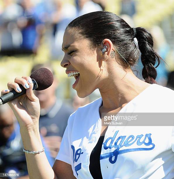 Jordin Sparks Sings The National Anthem At The Los Angeles