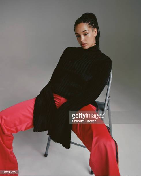 Singer Jorja Smith is photographed for Brick magazine on October 17 2017 in London England
