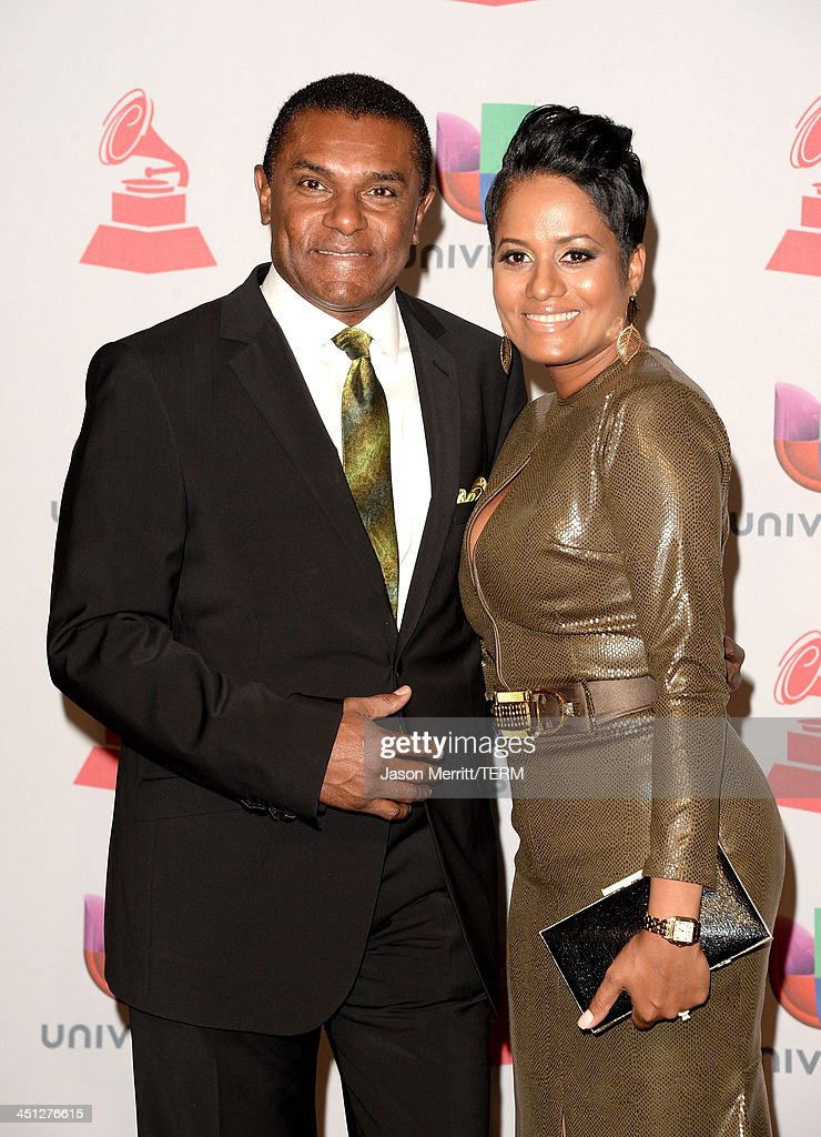 Singer Jose Alberto (L) and guest pose in the press room at the 14th Annual Latin GRAMMY Awards held at the Mandalay Bay Events Center on November 21, 2013 in Las Vegas, Nevada.