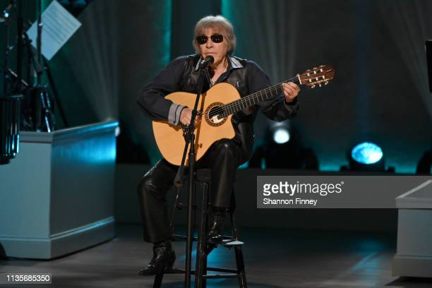 Singer Jose Feliciano performs at the 2019 Gershwin Prize Honoree's Tribute Concert at DAR Constitution Hall on March 13 2019 in Washington DC