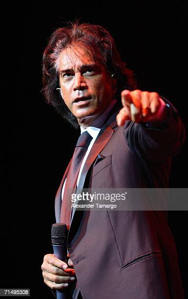Singer Jose Luis El Puma Rodriguez performs at Hard Rock Live at the Seminole Hard Rock Hotel and Casino on July 20 2006 in Hollywood Florida
