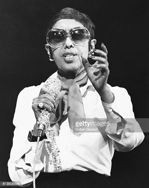 Singer Josephine Baker rehearsing for the Royal Variety Performance at the London Palladium England 1974