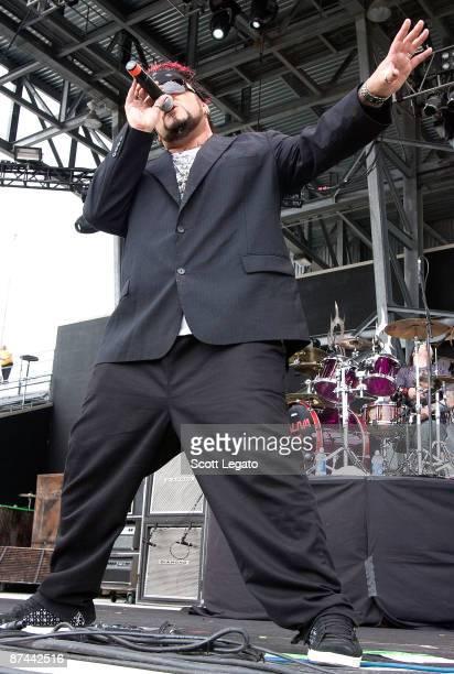 Singer Josey Scott of Saliva performs during the 2009 Rock On The Range festival at Columbus Crew Stadium on May 16 2009 in Columbus Ohio