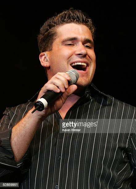 Singer Josh Gracin performs onstage at the 2nd Annual New Artist Show at the Mandalay Bay on May 16, 2005 in Las Vegas, Nevada.