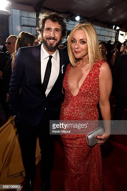 Singer Josh Groban and Actress Jane Krakowski attend the 70th Annual Tony Awards Arrivals at Beacon Theatre on June 12 2016 in New York City