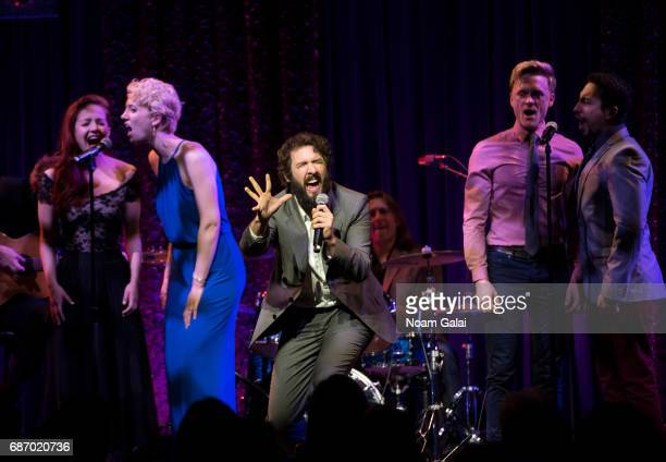 Singer Josh Groban and the cast of The Great Comet perform during the Manhattan Theatre Club Spring Gala 2017 at Cipriani 42nd Street on May 22 2017...