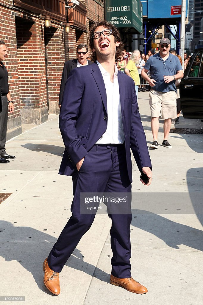 Singer Josh Groban attends 'Late Show With David Letterman' at the Ed Sullivan Theater on August 1, 2011 in New York City.