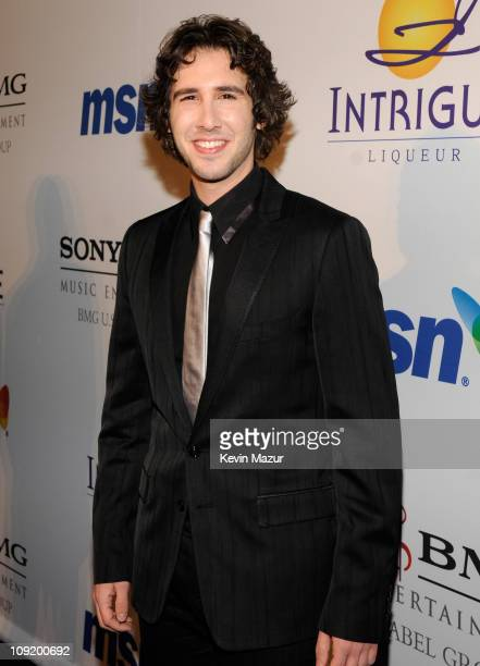 Singer Josh Groban attends the 2008 Clive Davis PreGRAMMY party at the Beverly Hilton Hotel on February 9 2008 in Los Angeles California