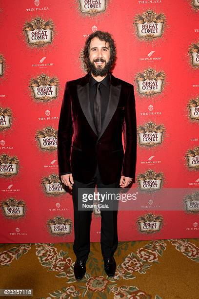 Singer Josh Groban attends the after party for the Natasha Pierre The Great Comet Of 1812 opening night on Broadway at The Plaza Hotel on November 14...
