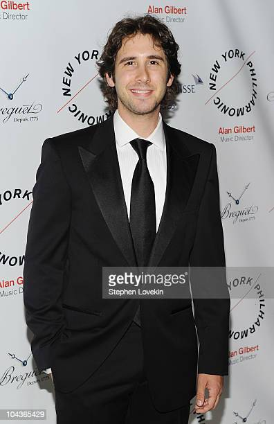 Singer Josh Groban attends the New York Philharmonic Opening Night Gala at Avery Fisher Hall at Lincoln Center for the Performing Arts on September...