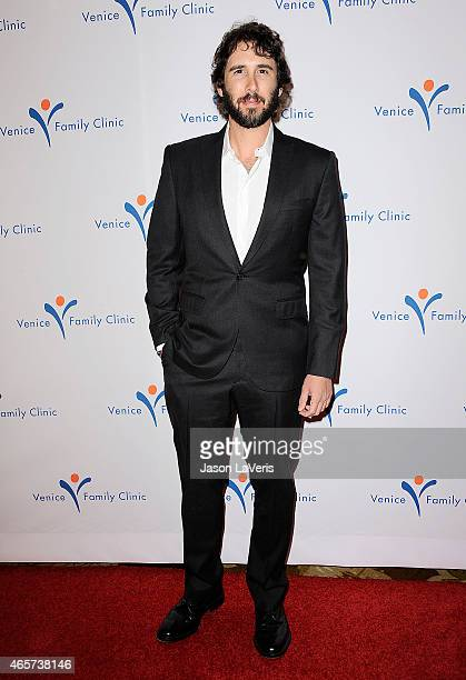 Singer Josh Groban attends Venice Family Clinic's 33rd annual Silver Circle gala at the Beverly Wilshire Four Seasons Hotel on March 9 2015 in...