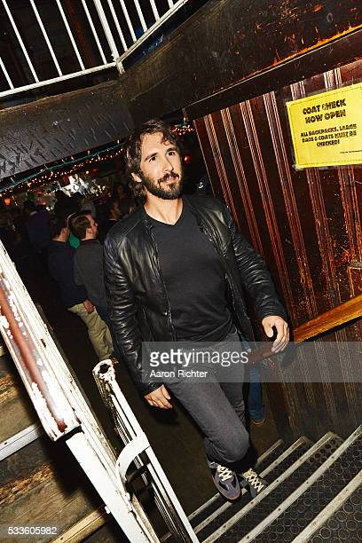 Singer Josh Groban is photographed for Entertainment Weekly in 2015 at Marie's Crisis in New York City
