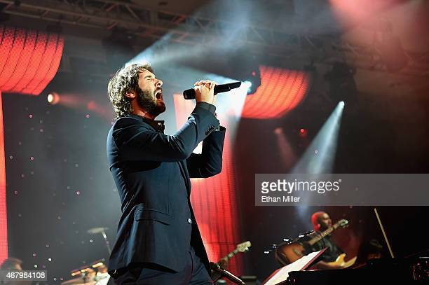 Singer Josh Groban performs onstage during Muhammad Ali's Celebrity Fight Night XXI at the Jw Marriott Phoenix Desert Ridge Resort Spa on March 28...