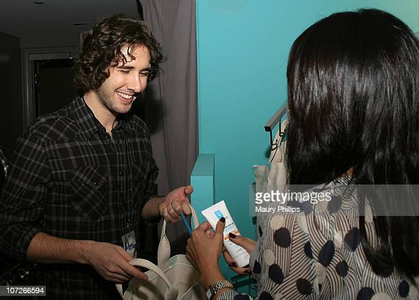 Singer Josh Groban with CVS at the Access Hollywood Stuff You Must Lounge Presented by On 3 Productions at Sofitel Hotel on January 11 2008 in...