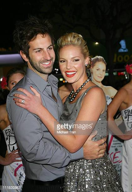 "Singer Josh Kelley and actress Katherine Heigl arrives at the Los Angeles Premiere of ""27 Dresses"" held at The Mann Village Theatre on January 7,..."