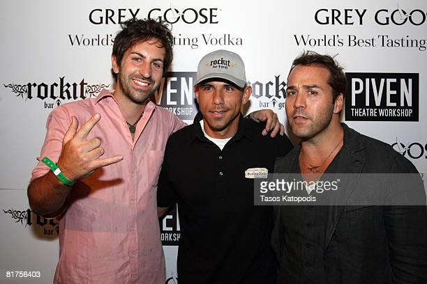 Singer Josh Kelley Billy Dec of Chicago's Rockit Bar and Grill and actor Jeremy Piven of HBO's Entourage attend the Annual Piven Theater Workshop...