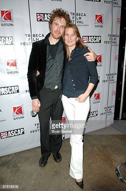 Singer Josh Ritter and Annie Leahy pose at the Tribeca/ASCAP Music Lounge at Canal Room during the 5th Annual Tribeca Film Festival May 2 2006 in New...