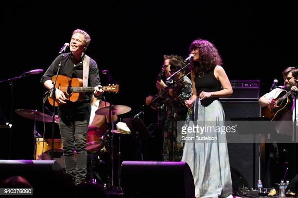 Singer Josh Ritter performs onstage during The Jubilee A Celebration of Jerry Garcia presented by The Bluegrass Situation at The Theatre at Ace Hotel...