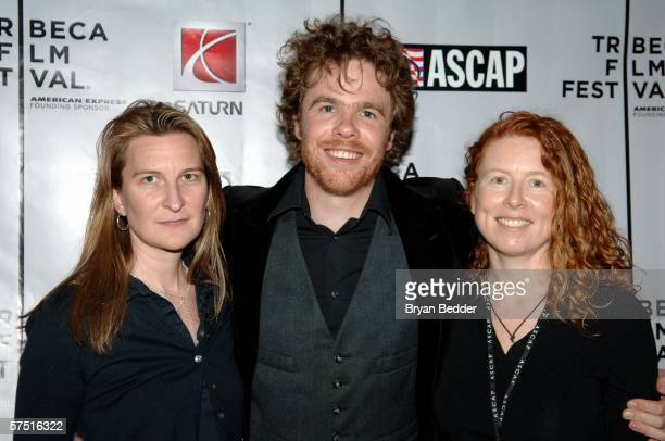 Singer Josh Ritter poses with Annie Leahy and Sue Devine at the Tribeca/ASCAP Music Lounge at Canal Room during the 5th Annual Tribeca Film Festival...