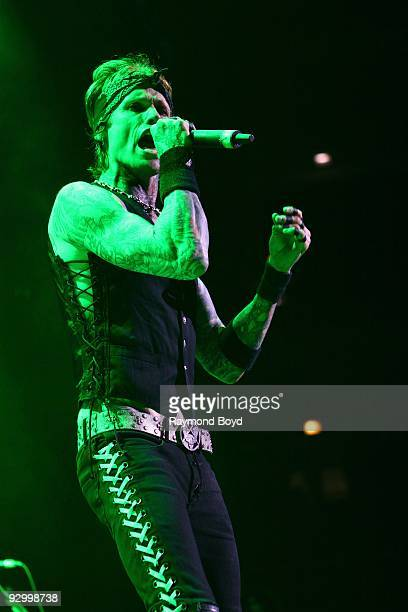 Singer Josh Todd of Buckcherry performs at the United Center in Chicago Illinois on November 06 2009