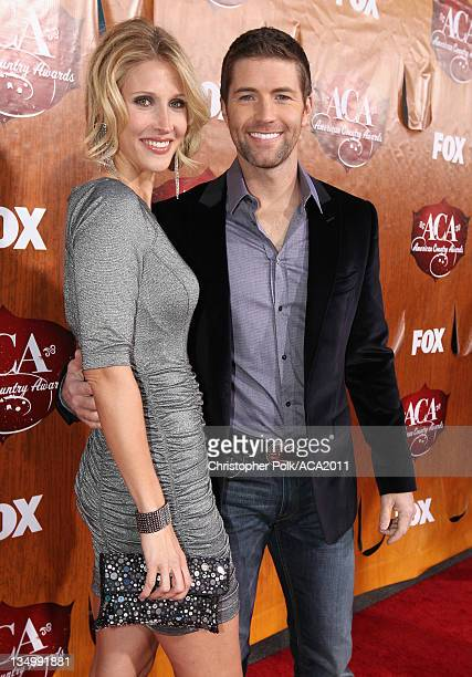 Singer Josh Turner and Jennifer Turner arrive at the American Country Awards 2011 at the MGM Grand Garden Arena on December 5 2011 in Las Vegas Nevada