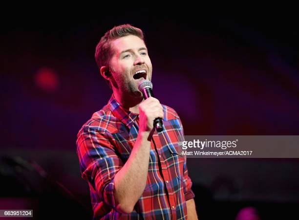 Singer Josh Turner performs onstage at the ACM Awards Official After Party at the Park Theater on April 2 2017 in Las Vegas Nevada