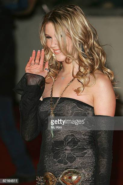 Singer Joss Stone arrives at the 25th Anniversary BRIT Awards 2005 at Earl's Court February 9 2005 in London
