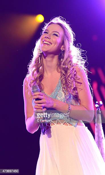Singer Joss Stone performs during Rock in Rio USA at MGM Resorts Festival Grounds on May 16 2015 in Las Vegas Nevada