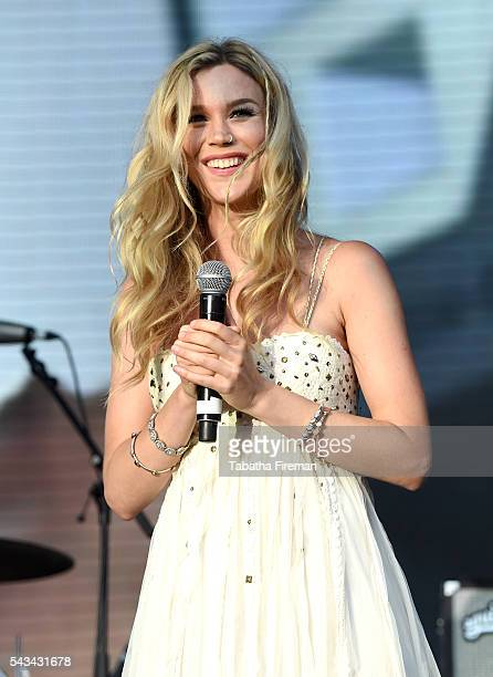 Singer Joss Stone performs on stage during the Sentebale Concert at Kensington Palace on June 28 2016 in London England Sentebale was founded by...