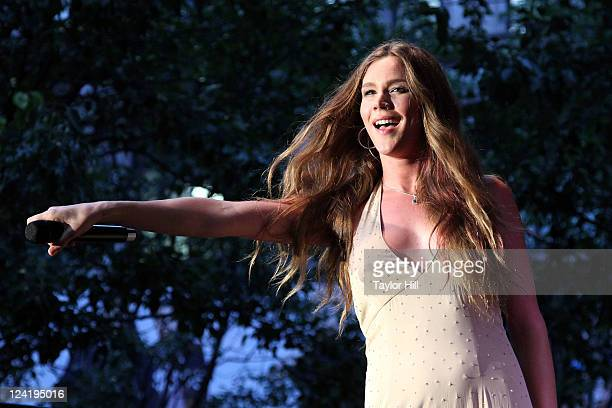 Singer Joss Stone performs to celebrate Fashion's Night Out at Macy's Herald Square on September 8 2011 in New York City