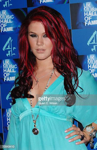 Singer Joss Stone poses in the Awards Room at the UK Music Hall Of Fame 2006 at Alexandra Palace on November 14 2006 in London England