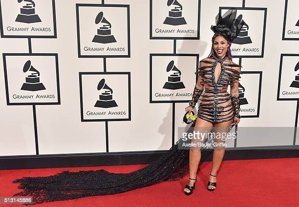 Singer Joy Villa arrives at The 58th GRAMMY Awards at Staples Center on February 15 2016 in Los Angeles California