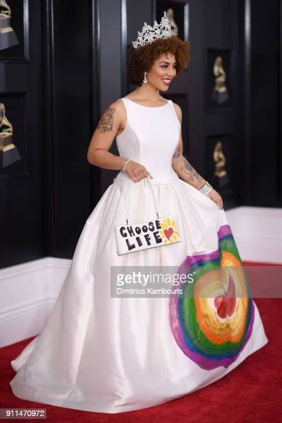 Singer Joy Villa attends the 60th Annual GRAMMY Awards at Madison Square Garden on January 28 2018 in New York City