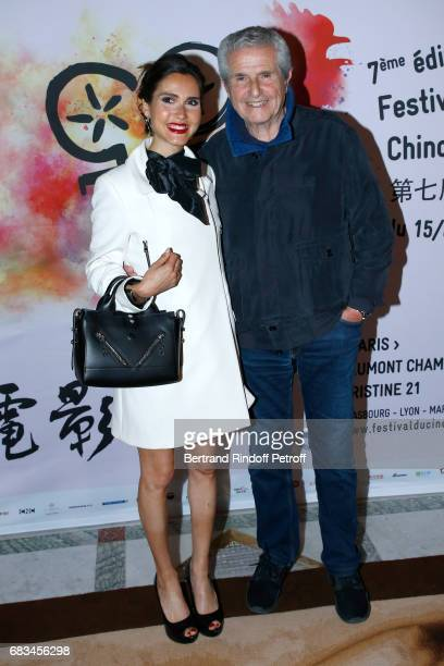 Singer Joyce Jonathan and Director Claude Lelouch attend the 7th Chinese Film Festival Opening Cocktail at Hotel Meurice on May 15 2017 in Paris...