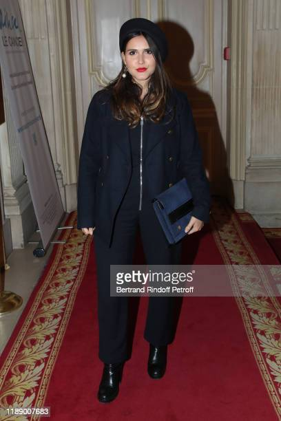 """Singer Joyce Jonathan attends the """"Vaincre Le Cancer"""" : Benefit Party at Cercle de l'Union Interalliee on November 20, 2019 in Paris, France."""
