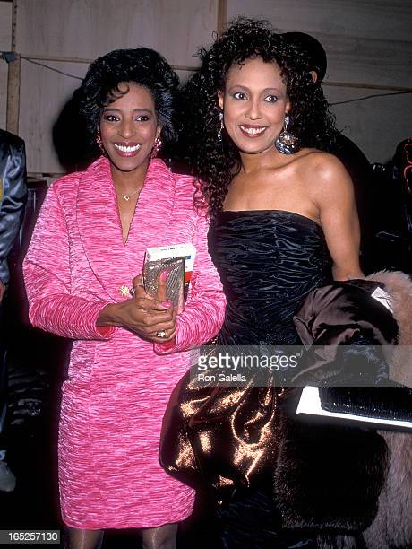 Singer Joyce Vincent Wilson and actress Telma Hopkins attend the 16th Annual American Music Awards on January 30 1989 at the Shrine Auditorium in Los...