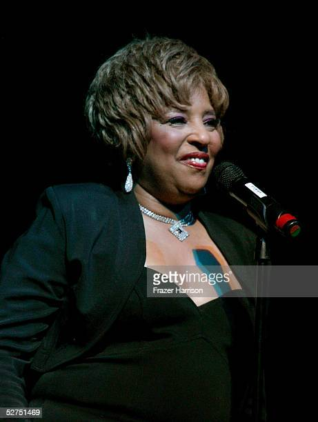 Singer Joyce Vincent Wilson performs during the WeSPARKLE Variety Hour to benefit weSPARK Cancer Support Center held at The Henry Fonda Music Box...