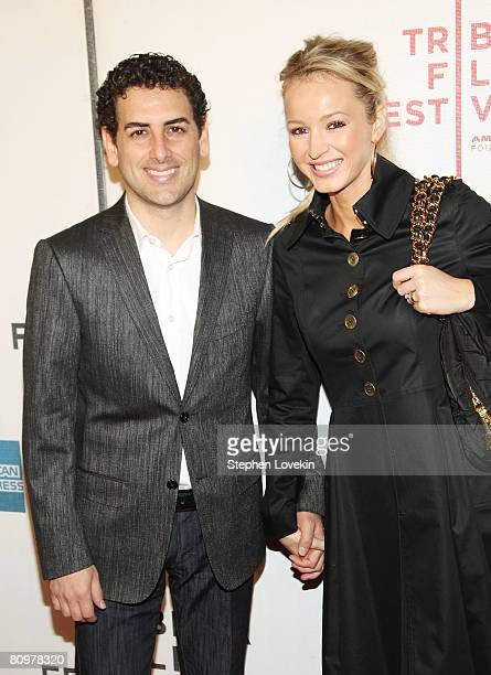 Singer Juan Diego Florez and his wife Julia Trappe attend the premiere of Speed Racer during the 2008 Tribeca Film Festival on May 3 2008 in New York...