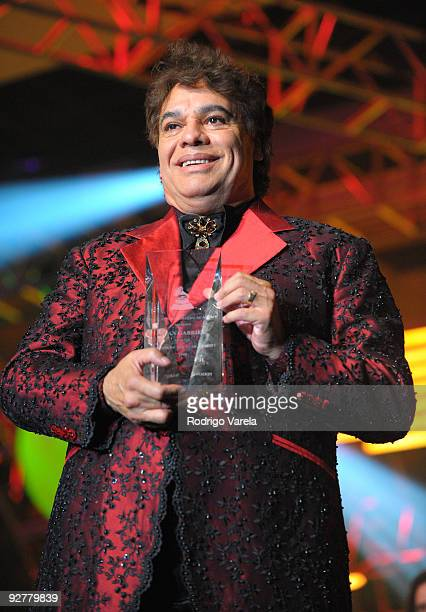 Singer Juan Gabriel accepts his award onstage at the 2009 Person Of The Year Honoring Juan Gabriel at Mandalay Bay Events Center on November 4 2009...