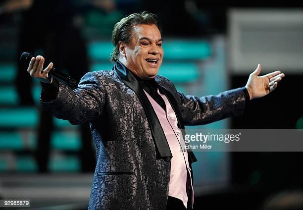 Singer Juan Gabriel performs during the 10th Annual Latin GRAMMY Awards at the Mandalay Bay Events Center November 5 2009 in Las Vegas Nevada